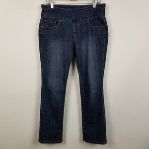 Jag Jeans High Rise Straight Dark Wash 12 Petite